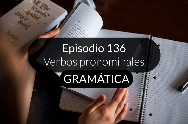 136. Verbos pronominales