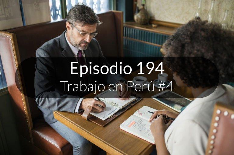 194. Trabajo en Perú #4